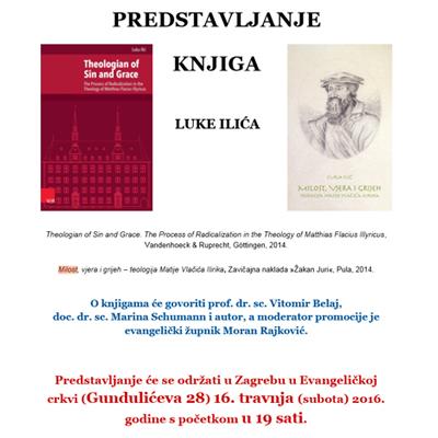 """Promocija knjige dr.sc. Luke Ilića """"Milost, vjera i grijeh"""""""